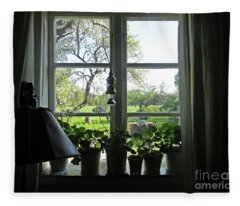 View To The Garden Fleece Blanket