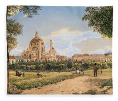 Views Of The Karlskirche And The Polytechnic Institute Fleece Blanket