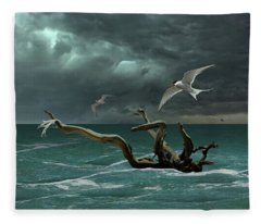 Vigil At Sea Fleece Blanket