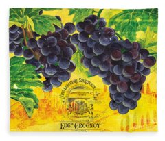 Vigne De Raisins Fleece Blanket