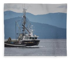 Viking Sunrise At Nw Bay Fleece Blanket