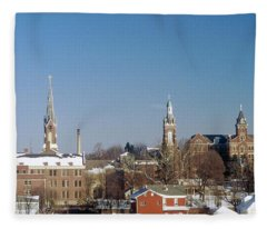 Village Of Spires Fleece Blanket