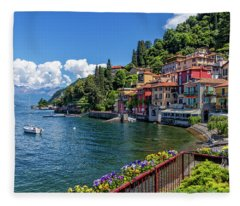 Village Of Varenna Fleece Blanket