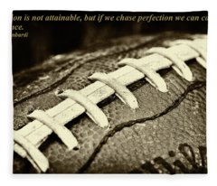 Vince Lombardi Perfection Quote Fleece Blanket
