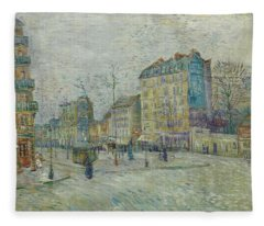 Vincent Van Gogh  The Boulevard De Clichy, Paris Fleece Blanket