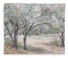Vincents Olive Trees 2 Fleece Blanket