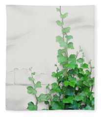 Vines By The Wall Fleece Blanket
