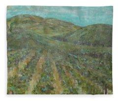 Vineyard #2 Fleece Blanket