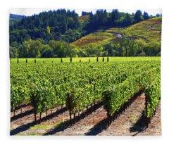 Vineyards In Sonoma County Fleece Blanket