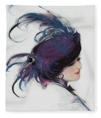 Vintage 1914 Fashion Fleece Blanket