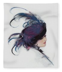 Vintage 1914 Fashion Fleece Blanket