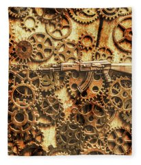 Vintage Ak-47 Artwork Fleece Blanket
