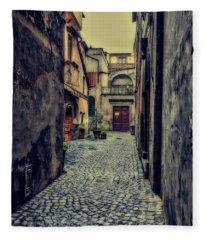 Vintage Alley Fleece Blanket