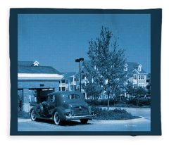 Vintage Automobile Fleece Blanket