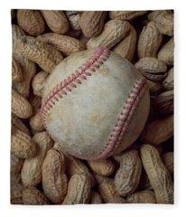 Vintage Baseball And Peanuts Square Fleece Blanket