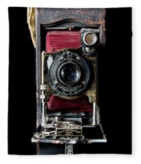 Vintage Bellows Camera Fleece Blanket
