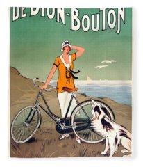 Vintage Bicycle Advertising Fleece Blanket