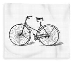 Vintage Bike Fleece Blanket