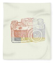 Vintage Camera 2 Fleece Blanket