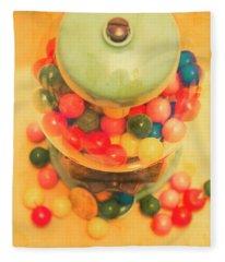 Vintage Candy Machine Fleece Blanket