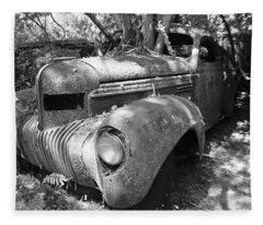 Vintage Car Fleece Blanket
