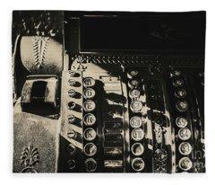 Vintage Cash Register Fleece Blanket