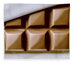 Vintage Chocolate Block Macro Fleece Blanket