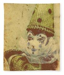 Vintage Circus Postcard Fleece Blanket