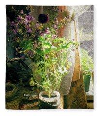 Vintage Classic Flower Still Life Fleece Blanket