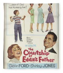 Vintage Classic Movie Posters, The Courtship Of Eddie's Father Fleece Blanket