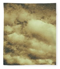 Vintage Cloudy Sky. Old Day Background Fleece Blanket