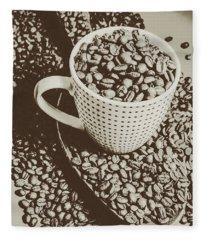 Vintage Coffee Art. Stimulant Fleece Blanket