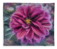 Vintage Dahlia Fleece Blanket