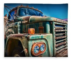 Vintage Dodge 700 Diesel Truck  Fleece Blanket