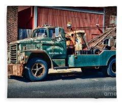 Vintage Dodge Tow Truck 2 Fleece Blanket
