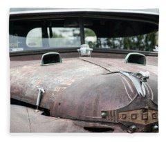 Vintage Dodge Truck Fleece Blanket
