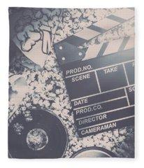 Vintage Film Production Fleece Blanket