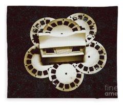 Vintage Film Toy Fleece Blanket
