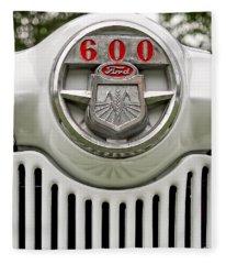 Vintage Ford 600 Nameplate Emblem Fleece Blanket