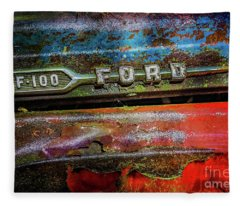 Vintage Ford F100 Fleece Blanket