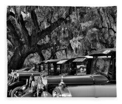 Vintage Ford Line-up At Magnolia Plantation - Charleston Sc Fleece Blanket