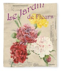 Vintage French Flower Shop 4 Fleece Blanket