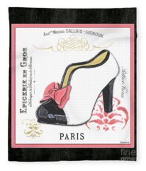 Vintage French Shoes 2 Fleece Blanket