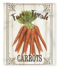 Vintage Fresh Vegetables 3 Fleece Blanket