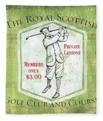 Vintage Golf Green 1 Fleece Blanket