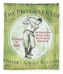 Vintage Golf Green 2 Fleece Blanket