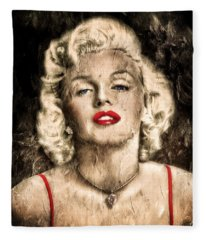 Vintage Grunge Goddess Marilyn Monroe  Fleece Blanket
