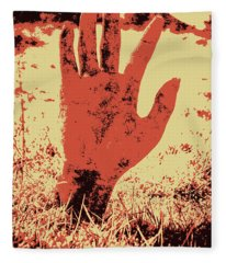 Vintage Horror Poster Art  Fleece Blanket