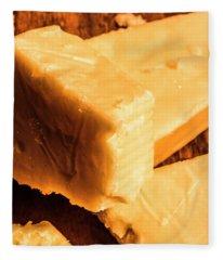 Vintage Italian Cheeses Fleece Blanket