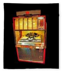 Vintage Jukebox Tee Fleece Blanket